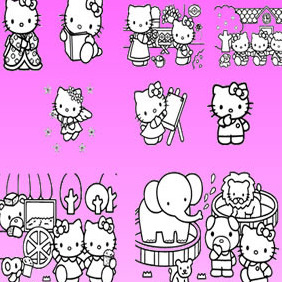 Hello Kitty Vector Collection - Free vector #215359