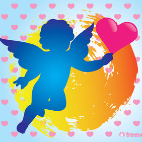 Cupid Vector - Free vector #215439