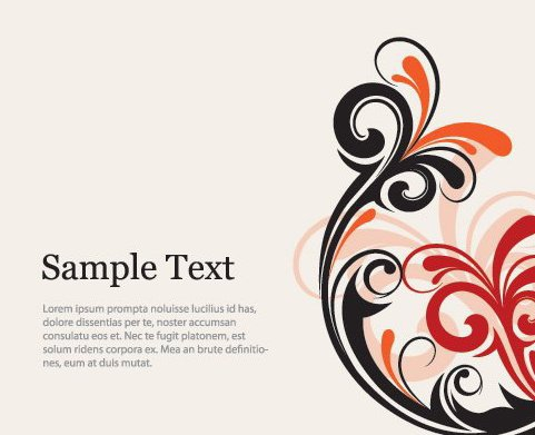 Swirly Flyer - Free vector #215489