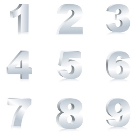 Number Set - vector gratuit #215559