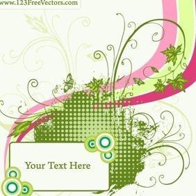 Free Floral Frame Vector - Kostenloses vector #215609