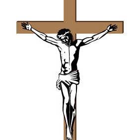Jesus Crucified On The Cross - Free vector #215629