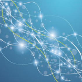 Blue Abstract Bubbles And Lines Vector Graphic - Free vector #215689