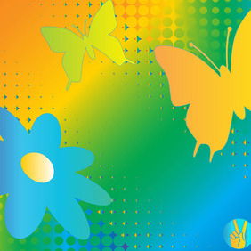 Rainbow Nature Vector Graphics - Kostenloses vector #215799
