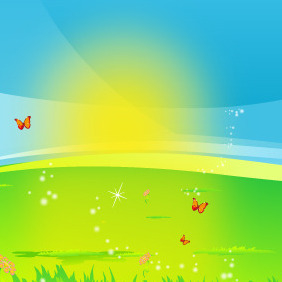 Here Comes The Sun - vector gratuit #216059