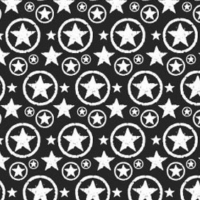 Grungy Star Circle Photoshop And Illustrator Pattern - Free vector #216389