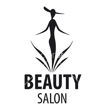 Free logo elegant woman for a salon beauty vector - Kostenloses vector #216429