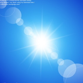 Abstract Sunny Blue Sky Background - vector gratuit #216529