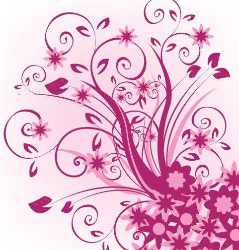 Floral Violet - vector gratuit #216659