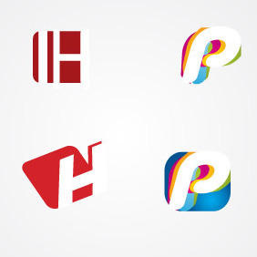 H And P Letter Logo Pack - Free vector #216729