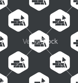 Free black hexagon building wall pattern vector - Free vector #216879