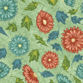 Free Vector Floral Seamless Pattern - Kostenloses vector #216929