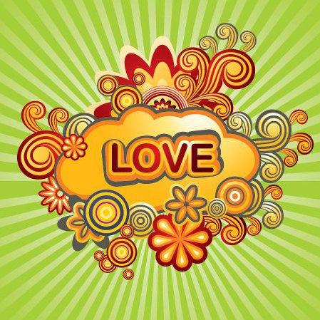 Quadro de amor - Free vector #217129