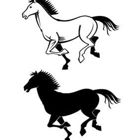 Horses Vectors - Free vector #217269