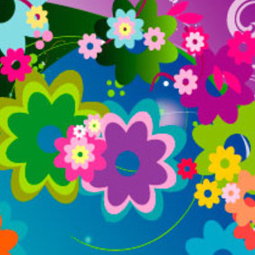 Flowers Vector Card - vector #217379 gratis