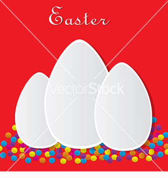 Free red card for easter vector - Kostenloses vector #217689