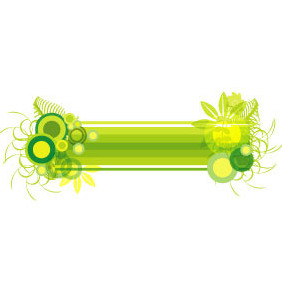 Green Abstract Banner Vector - vector gratuit #217699