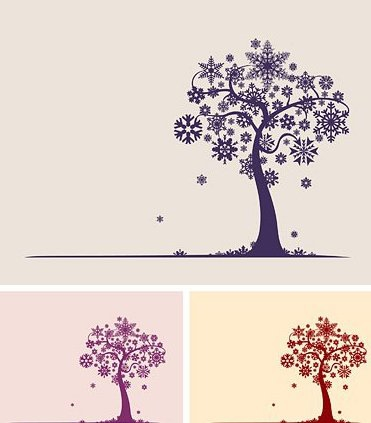 Arbre de flocon de neige - Free vector #217739