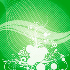 Abstract Swirls Green Vector Background - Free vector #217799