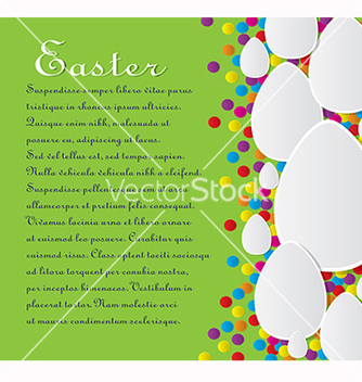 Free card with the text for easter vector - vector gratuit #217809