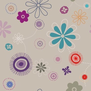 Flowers Pattern - vector gratuit #217849