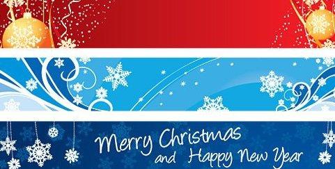 Weihnachts-Banner - Kostenloses vector #217869