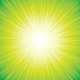 Green Sunbeam Background - Free vector #218389