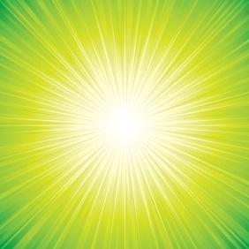 Green Sunbeam Background - бесплатный vector #218389