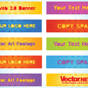 Web Banners Pack - Free vector #218499