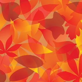 Autumn Leaves Background - vector #218519 gratis