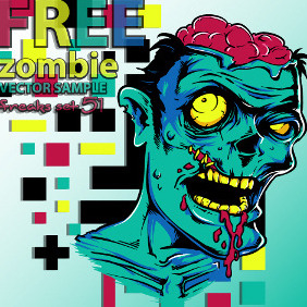 Free Zombie Vector Sample - vector gratuit #218639