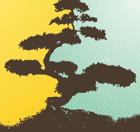Bonsai tree - Free vector #218729