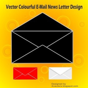 Vector Colourful E-Mail News Letter Design - vector gratuit(e) #218759