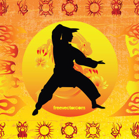 Karate Kid - Free vector #218769