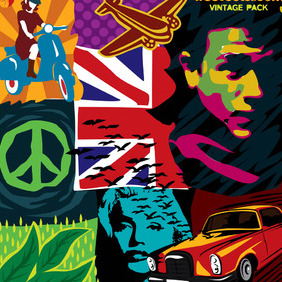 Vintage Vector Art Pack - Free vector #218859