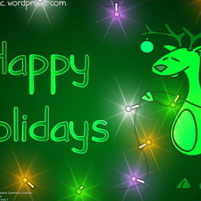 Christmas Greeting Card 9 - vector gratuit #218869