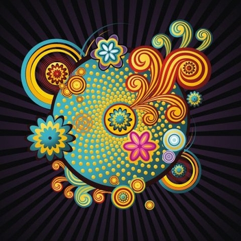 Colorful Swirls - vector gratuit #218899