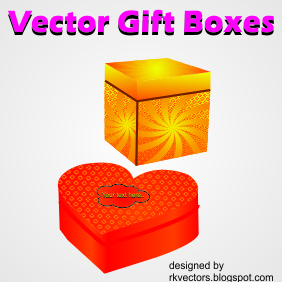 Vector Boxes For Gift - Free vector #218939