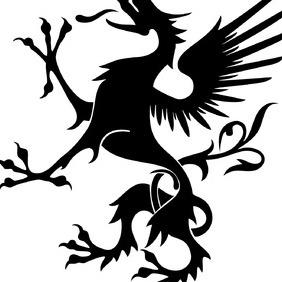 Heraldic Griffon Vector Image - Free vector #219099