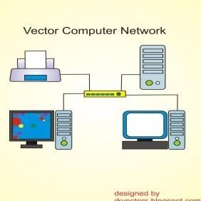 Vector Computer Network - Free vector #219209