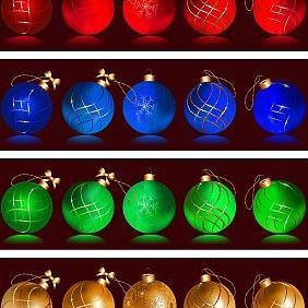 Christmas Balls - Free vector #219349