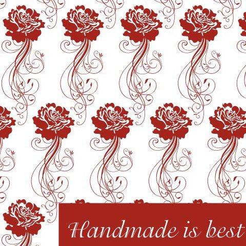 Handmade is best - Free vector #219389