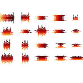 20 Vector Flames Elements - vector gratuit #219489