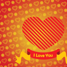 Heart Valentine Card - Free vector #219519