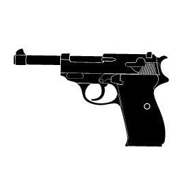 Walther Pistol Vector - Free vector #219569