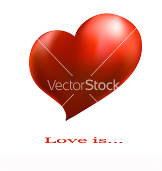 Free banner with a red heart on a white background vector - vector gratuit(e) #219589