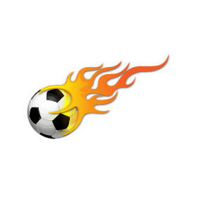 Ball In Flames Vector Image - бесплатный vector #219599