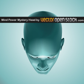 Mind Power Mistery Head - vector gratuit #219609