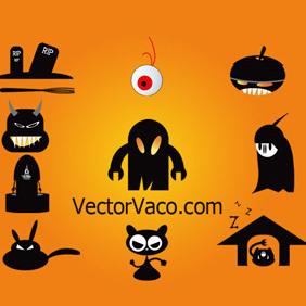 Halloween Vectors - Free vector #219799