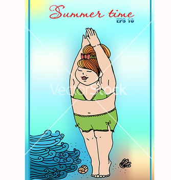 Free a girl in a bathing suit vector - Free vector #219859